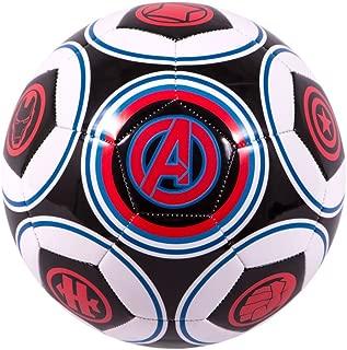Marvel Avengers Specialty Soccer Ball, Size 5, Black/Red/White