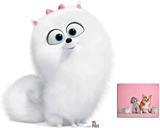 Gidget from The Secret Life of Pets 2 Official Cardboard Cutout/Standup Fan Pack, 78cm x 73cm Includes 8x10 Photo