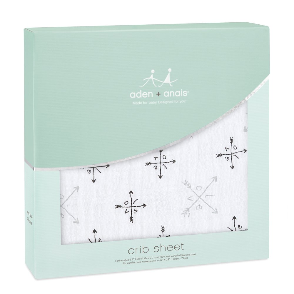 Tailored Snug Fit Retro Aden by aden Super Soft 100/% Cotton Muslin anais Classic Crib Sheet Washed Star Breathable