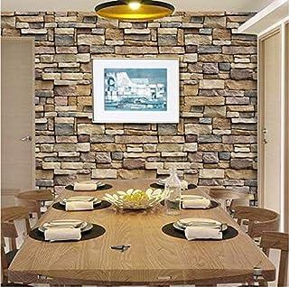comprar comparacion AIWQTO Wallpaper 3D,Restaurante Autoadhesivo Impermeable decoración salón Paredes Pegatinas 10m-G 61x1000cm(24x394inch)