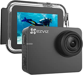 """EZVIZ Action Camera 1080p 60fps 8MP 131ft Waterproof 2"""" Touch Screen Interface On Dash Cam 150° Wide Angle Low-Light Mode Built-in Wi-Fi Bluetooth Pocket Size Outdoor Sports S2 Lite"""