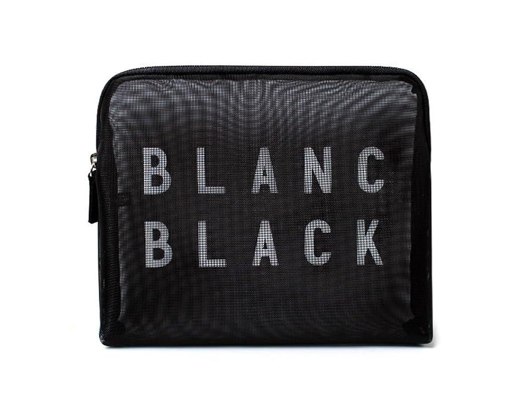 幻想紳士要塞[ブランク ブラック] Blanc Black メッシュ化粧ポーチ メイクポーチ 風呂セットのポーチ 旅行出張用ポーチ 海外直送品 Mesh Pouch [並行輸入品]