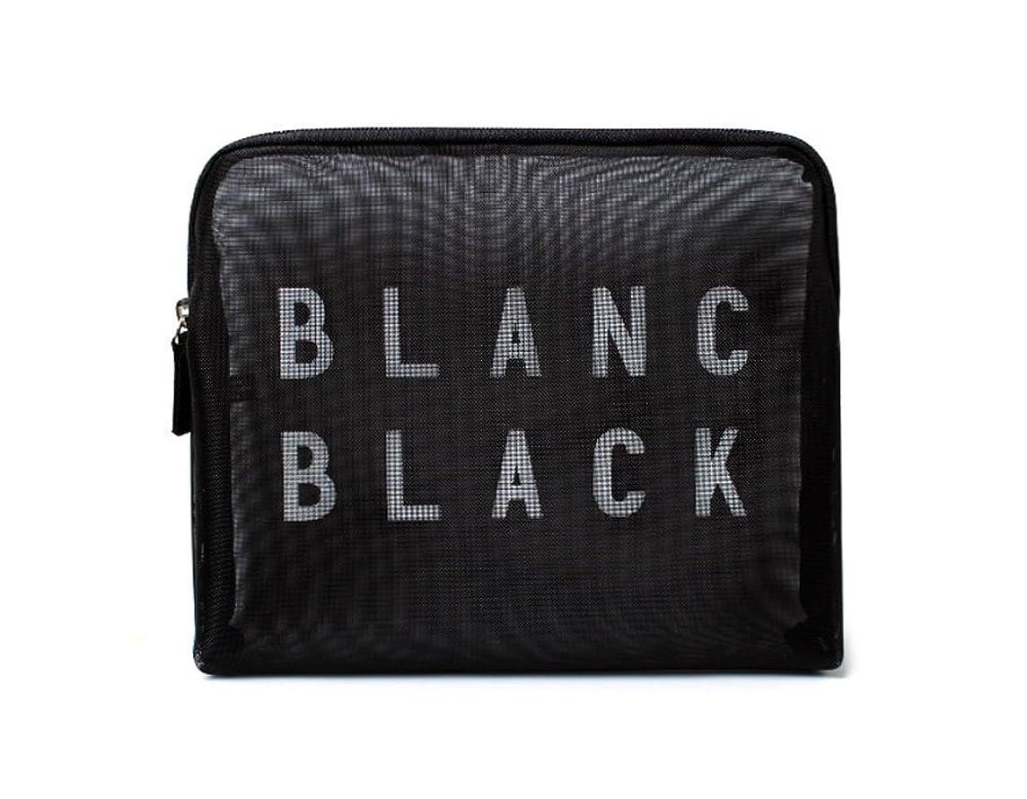 出来事進行中責任者[ブランク ブラック] Blanc Black メッシュ化粧ポーチ メイクポーチ 風呂セットのポーチ 旅行出張用ポーチ 海外直送品 Mesh Pouch [並行輸入品]