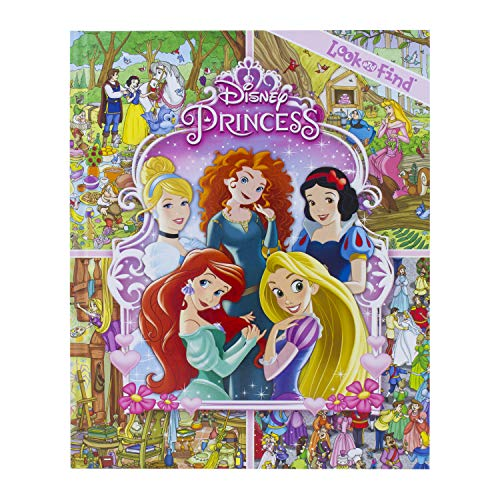 Disney Princess Cinderella, Tangled, Aladdin and More!- Look and Find Activity Book - PI Kids