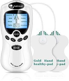 低周波治療器 パッド付 低周波 マッサージ器 8モード 強度調整可能 血行促進 液晶表示 肩?腰?腕?関節?ふくらはぎ?足裏に 家庭用 ストレス解消