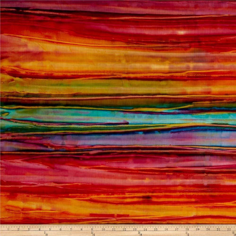 Robert Kaufman Kaufman Artisan Batiks Patina Handpaints Bold Stripes Wild Fabric By The Yard