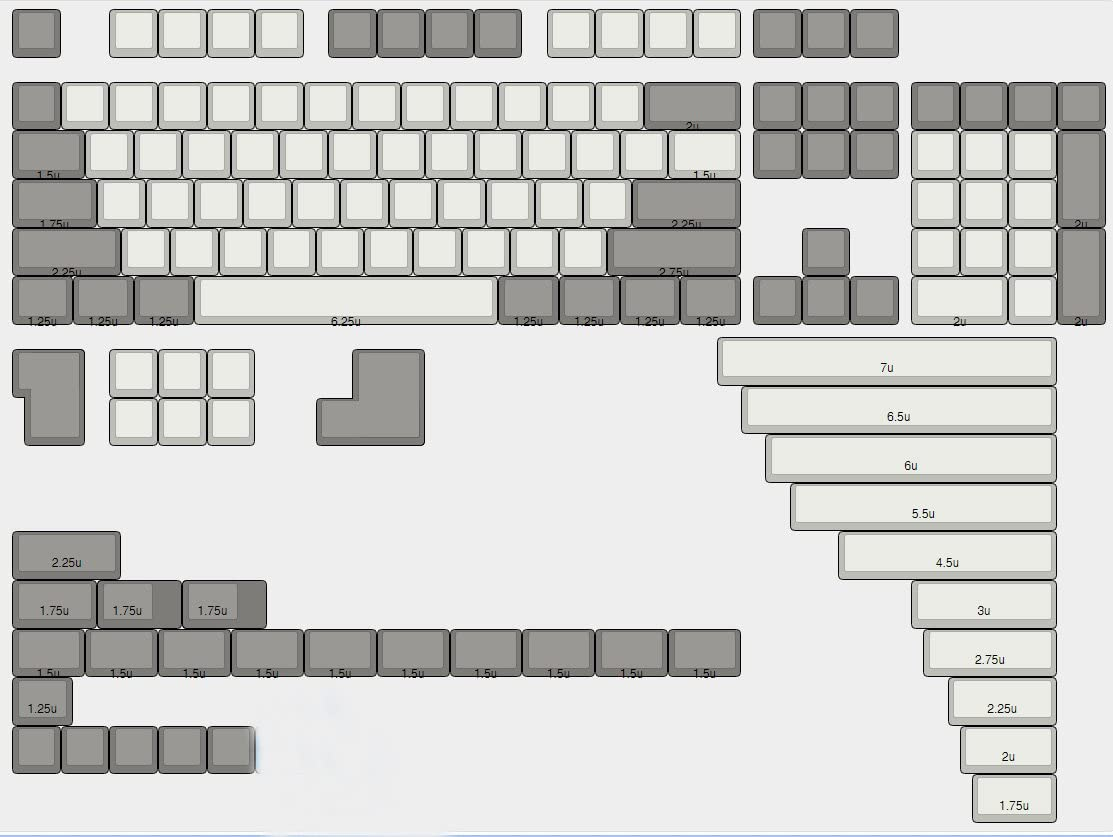 Only Keycap XDA 142 Key Full Set Keyset Blank Similar to DSA for MX Mechanical Keyboard Steelseries Ergo Filco Leopold Cosair Noppoo Planck Mixed