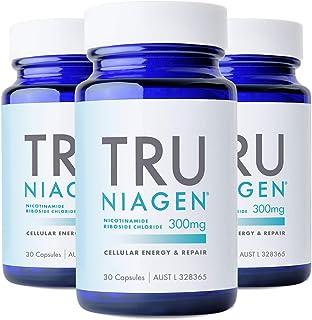 TRU NIAGEN® Nicotinamide Riboside Chloride - Patented NAD+ Booster supporting Cellular Energy & Repair, 300mg Vegetarian C...