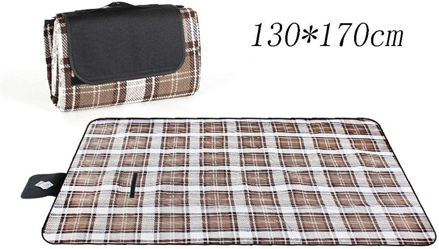 Picnic Lawn Mat Outdoor Beach Waterproof Portable Camping Blanket 130  170cm (color    1, Size   130  170cm)