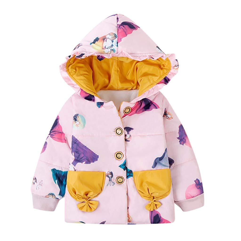 Baby Girls Boys Fleece Cardigan Hooded Jacket Lonshell Cute Ear Zipper Long Sleeve Coats Toddlers Autumn Winter Casual Outwear 1-6 Years Warm Parka Outwear