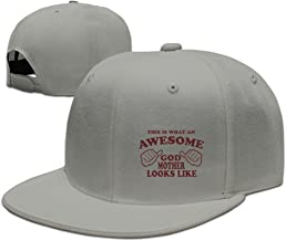 Awesome Godmother Looks Like Baseball Flat Bill Hat,Hiphop Adjustbale Cap