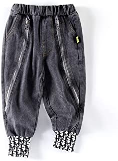 HOSD Jeans para niños Modelos de Primavera y otoño en la Ropa Infantil Grande 2019 otoño nuevos pies de viga Casual