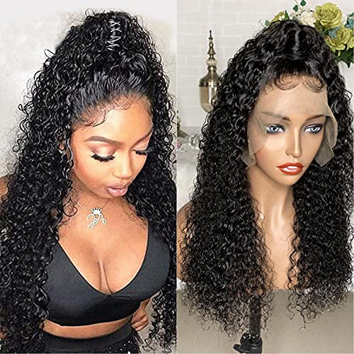 13x6 Lace Front Brazilian Remy Human Hair Wig Pre-Plucked Hairline Lace Frontal Human Hair Wig for Black Women (12 inch, 150 Density Lace Front Wig)