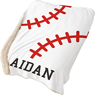 GiftsForYouNow Baseball Personalized Sherpa Blanket