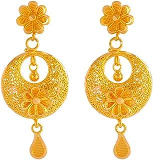 P.C. Chandra Jewellers 22k (916) Yellow Gold Jhumki Earrings for Women