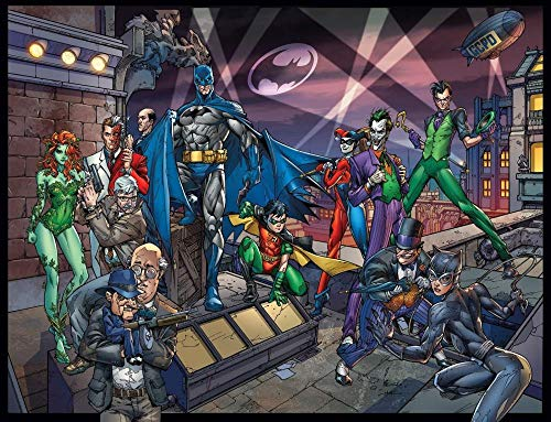 XHXYTSM Rompecabezas para adultos y niños 1000 piezas Animación de dibujos animados de Batman Tangram de lógica de madera Super duro clásico Ocio y entretenimiento Juegos familiares Regalo creatividad
