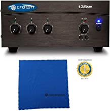 Crown 135MA Three Input, 35W Mixer-Amplifier with Microfiber and Free EverythingMusic 1 Year Extended Warranty