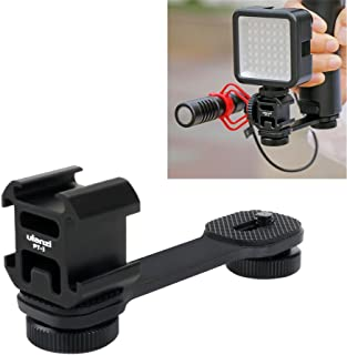 Triple Cold Shoe Mount Gimbal Extension Bracket, Universal Mic Stand and Light Mount Plate Adapter for Zhiyun Smooth 4/Smooth Q/DJI OSMO Mobile 2/Feiyu Vimble 2 Gimbal Stabilizer Accessories