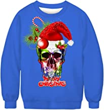iZHH Men's Christmas Fun Ugly 3D Print Long Sleeve Sweatshirt Top Blouse Jumper