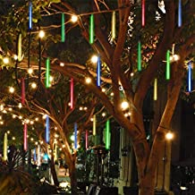 Twinkle Star Meteor Shower Rain Lights, 30cm 8 Tubes 288 LED Valentine Icicle Snow Falling Lights Outdoor Raindrop Lights, Xmas Wedding Party Tree Holiday Decoration, Multicolor