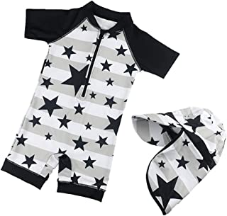 Hurley Boys Graphic T-Shirt and Swim Suit 2-Piece Outfit Set Black//Orange Doodle 24M