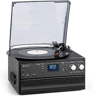 aunaOakland Dab Cadena estéreo - Reproductor de vinilos, CD y de Casete , Sintonizador de Radio Dab+/FM , Puerto USB y SD...