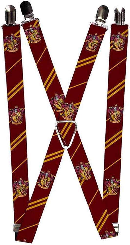 Buckle-Down Suspenders-Gryffindor Crest/stripe2 Burgundy/Gold