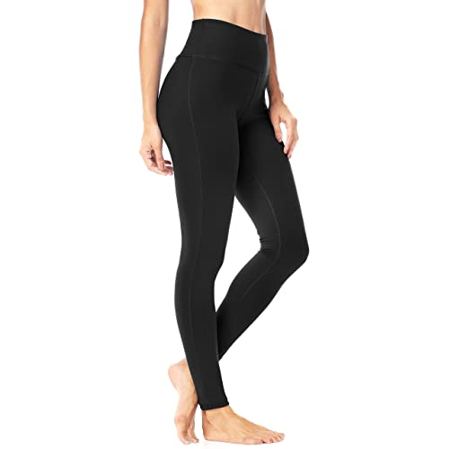 5b33a720e6902 QUEENIEKE Women Power Stretch Leggings Plus Size Medium Waist Yoga Pants  Hidden Pocket Running Tights