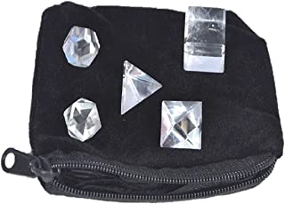 WholesaleGemShop Wow A++ Crystal 5 Stones Sacred Geometry Sets Gemstone Platonic Solid Top Grade Quality