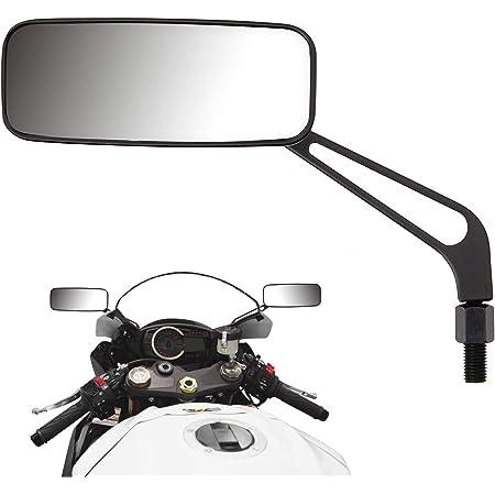 1 coppia di specchietti retrovisori laterali in lega di alluminio da 8 mm 10mm Specchietti retrovisori moto Blu