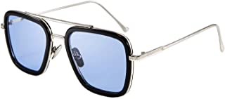 FEISEDY Retro Square Sunglasses Tony Sunglasses Trendy Gradient Lens B2510