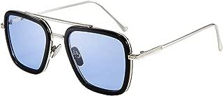 Retro Square Aviator Sunglasses Iron Man Tony Stark Sunglasses Trendy Downeyer Gradient Lens B2510