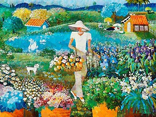 Paraíso das Flores de Celito Medeiros - 60x79 - Tela Canvas Para Quadro