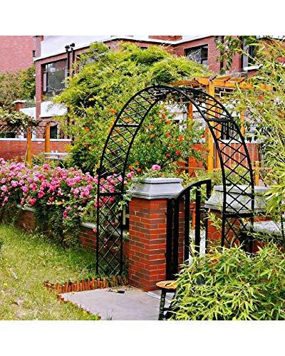 F-XW Gartenbogen Rosenbogen Rankgitter Torbogen Gartendeko Spalier Rankhilfe für Klettern von Weinreben Rose Cucumbers, Witterungsbeständig