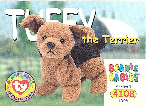 BBOC Cards TY Beanie Babies Series 1 Common - TUFFY The Terrier