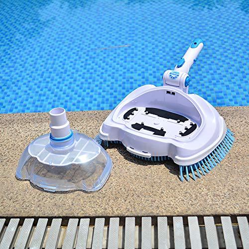 Macchina di pulizia per piscine a vuoto testa di vuoto per piscina testa di vuoto trasparente manuale di aspirazione strumenti di pulizia e manutenzione per piscine in terra e vinile