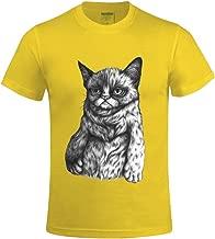 Overbearing Tard The Grumpy Cat DIY Men's O Neck T Shirts Yellow