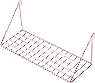 GRIDYMEN Straight Flat Display Shelf for Wall Grid Panel, Wire Hanging Organizer Rack Bin Storage Mountable, 11.8