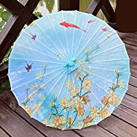 QIANJINGCQ アンティークの油紙傘装飾傘絹布傘雨と日焼け止め