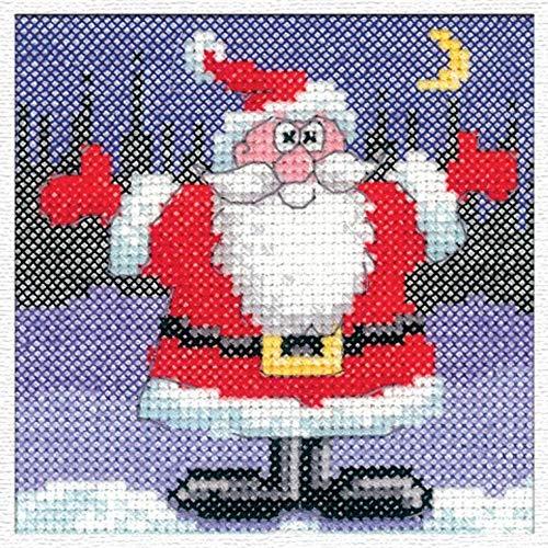 Santa Card Cross Stitch Kit