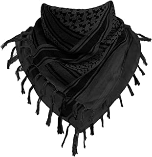 CRYSULLY Unisex Arab Scarf Tactical Military Keffiyeh Cotton Desert Shemagh Scarf Wrap