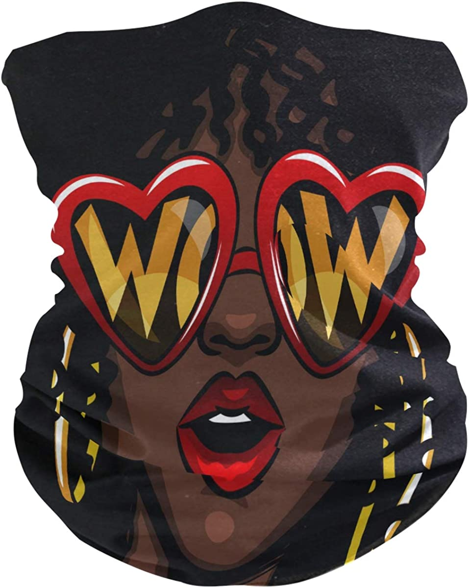 ALAZA African American Popular shop is the lowest price challenge Woman Seamless Mask Headwear Ranking TOP12 Face Bandana
