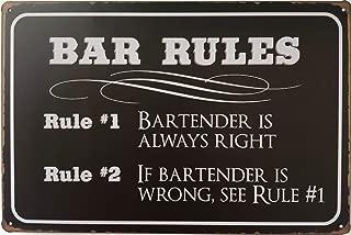 +Urbano BAR Rules Vintage Retro Tin Sign Home Pub Bar Deco Wall Decor Poster Size 8