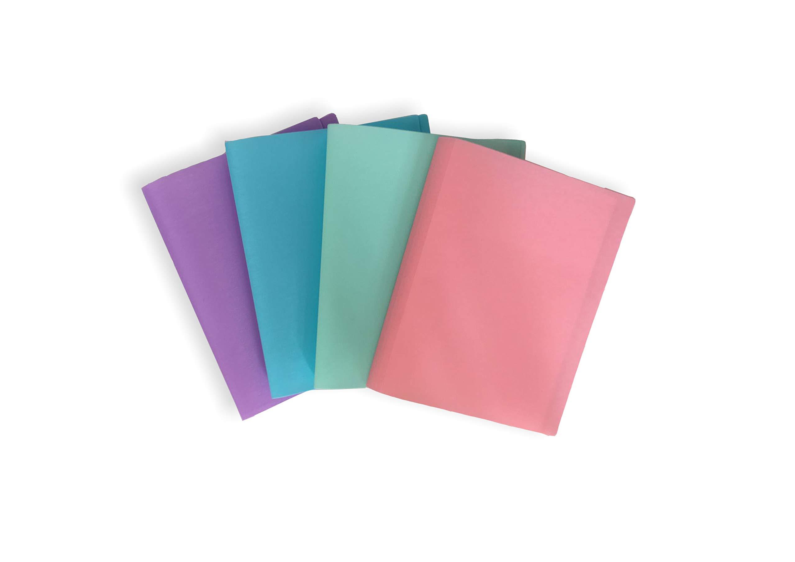 Ocean´s Wave OCW20063 - Pack de 20 carpetas con fundas, color pastel: Amazon.es: Oficina y papelería