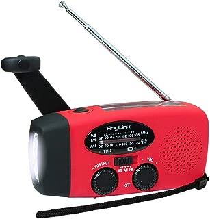 ラジオライト LED懐中電灯 災害用ラジオ 防水 手回し充電可能AngLink非常用ライト 携帯充電器 USB充電対応 ソーラーランタン 緊急対策