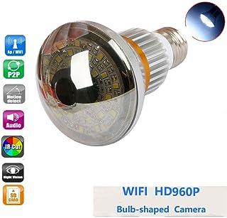 Balscw-J HD 960 Cámara de Red LED Luz Wi-Fi 5W Visión Nocturna Detección de luz y Movimiento de cámara de vigilancia Conve...