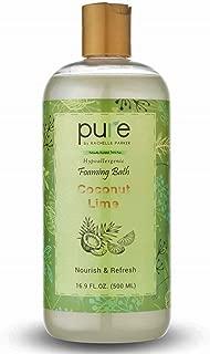 PURE Aromatherapy Bubble Bath, Essential Oils Bath Foam - Nourishes & Soothes, Large Bubble Bath is Hypoallergenic for Sensitive Skin & Sulfate Free - Coconut Lime Bubble Bath