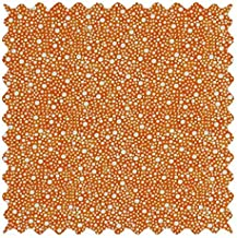 SheetWorld 100% Cotton Percale Fabric by The Yard, Confetti Dots Orange, 36 x 44