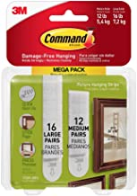 3M Command Picture Hanging Strips Mega Pack
