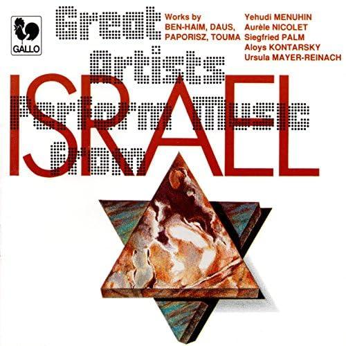 Paul Ben-Haim, Yehudi Menuhin & Siegfried Palm